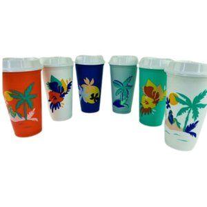 NEW Starbucks 2020 summer tropical reusable cups